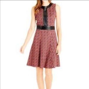 NWOT J. McLaughlin Red Poppy Fit n Flare Dress